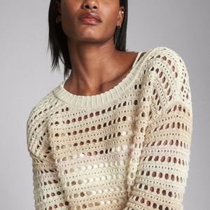 GAP Crochet Cotton Sweater